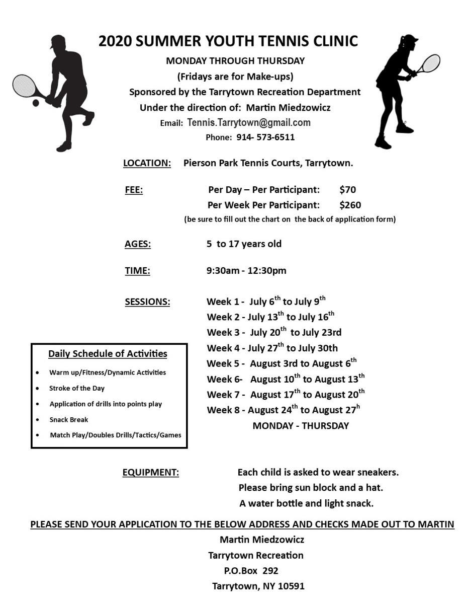 Martin Tennis Program Starting in July Kids Tennis Programs