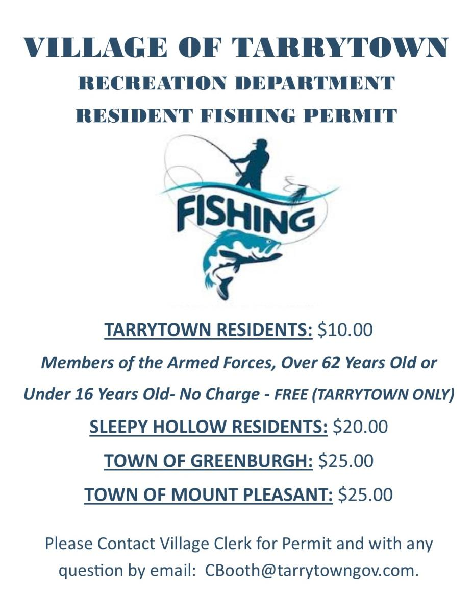 Fishing Permit information for Tarrytown Lakes