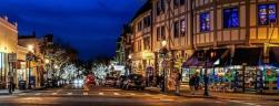 Tarrytown Main street at night