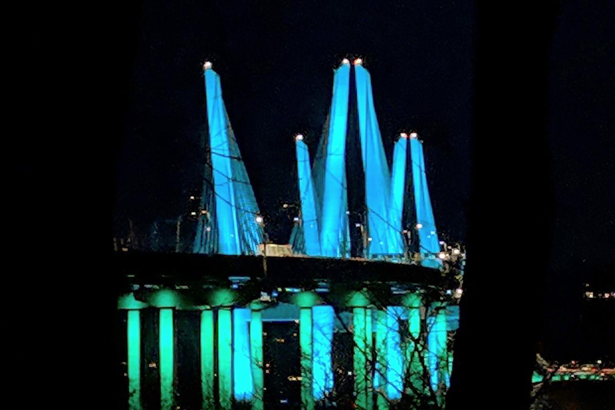 Bridge at Night Photo by Holly Halmo
