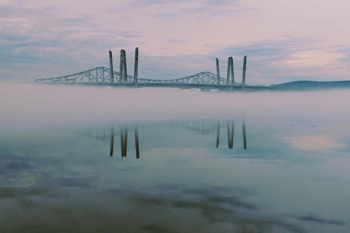 Both Bridges if the Fog Taken By Mark Shustak